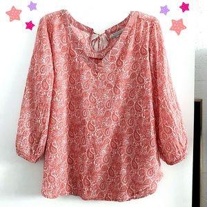 World Market paisley boho v-neck blouse